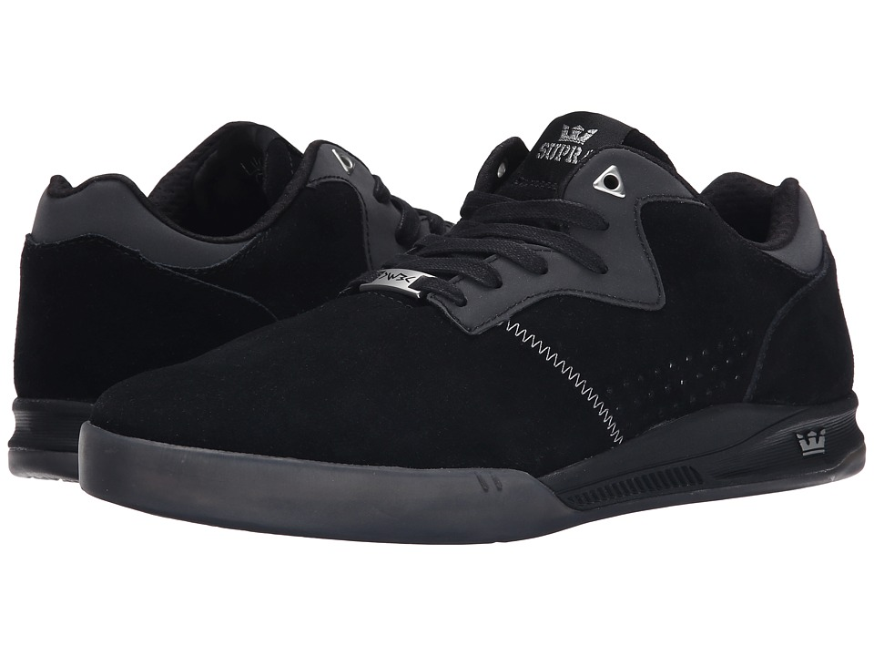 Supra - Quattro (Black/Grey/Transluscent) Men's Skate Shoes