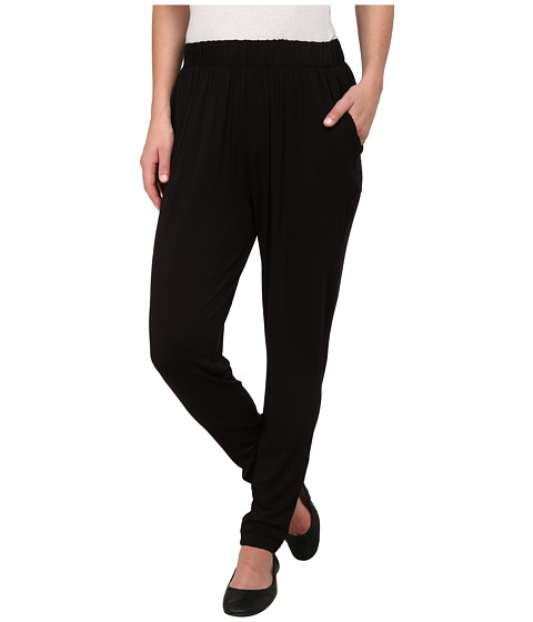 HUE - Jersey Relaxed Leggings (Black) Women's Casual Pants