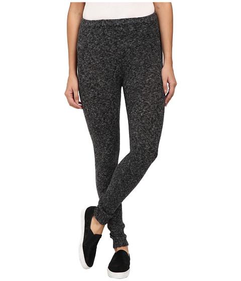 HUE - Tweed Sweater Leggings (Black Tweed) Women