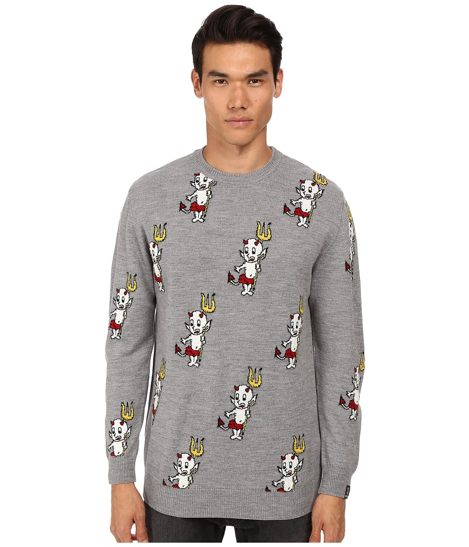 LOVE Moschino - Little Devil Print Knit (Grey) Men