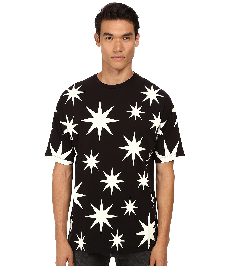 LOVE Moschino - Over Fit Star Print Tee (Black) Men