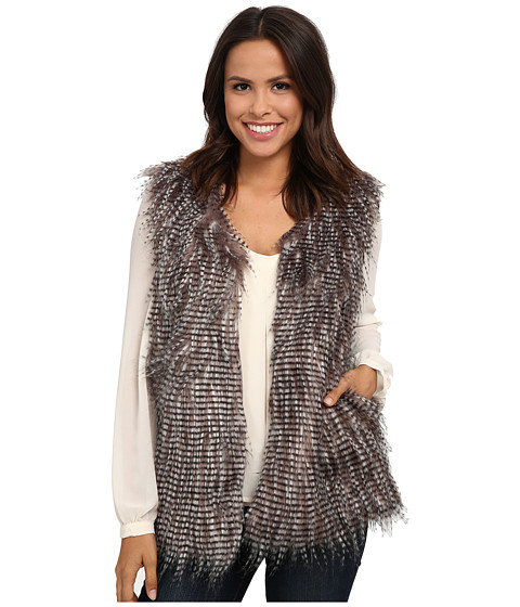 Brigitte Bailey - Gregarious Faux Fur Vest (Soft Mauve) Women's Sleeveless