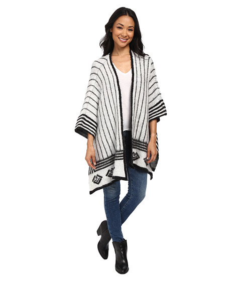 Brigitte Bailey - Intuitive Striped Knit (Black Combo) Women's Clothing