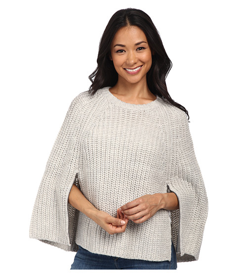 Brigitte Bailey - Intellectual Knit Cape (Heather Grey) Women