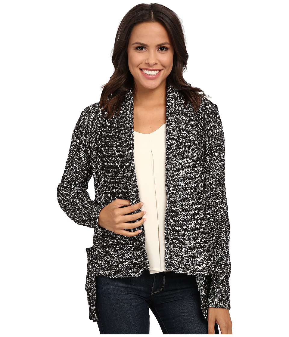 Brigitte Bailey - Honest Stripe Cardigan (Black Combo) Women's Sweater