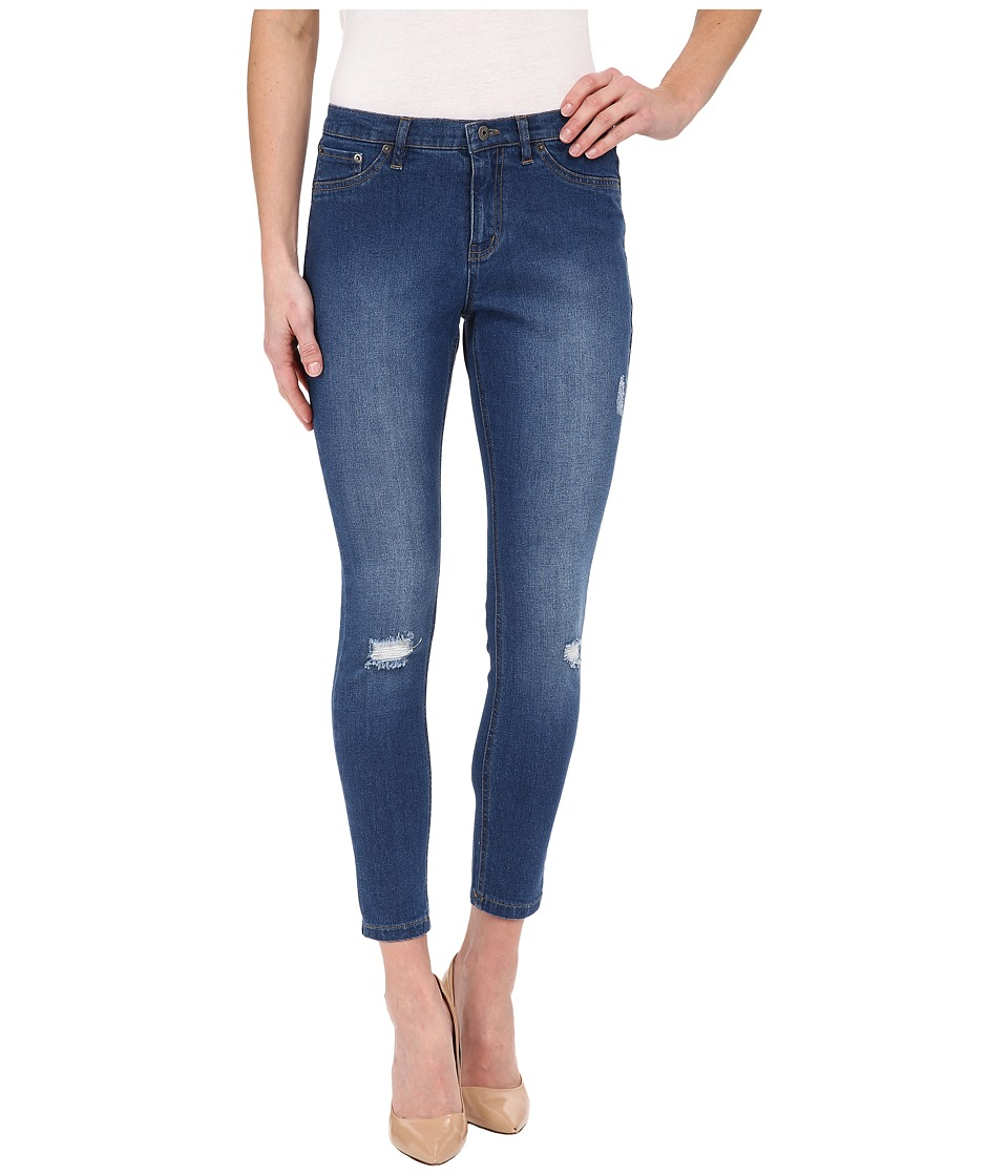 HUE - Ripped Denim Skimmer (Moody Blue Wash) Women's Jeans