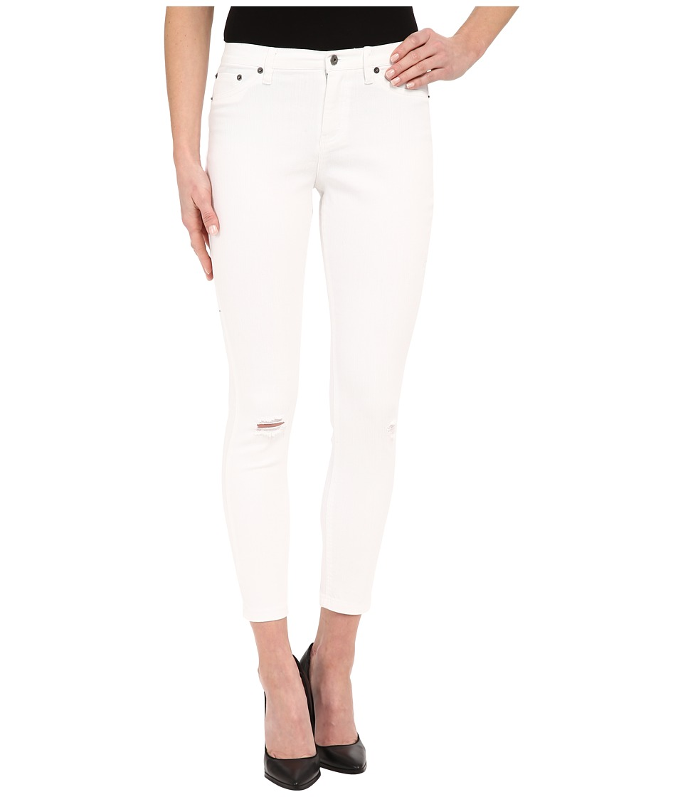 HUE - Ripped Denim Skimmer (White) Women's Jeans
