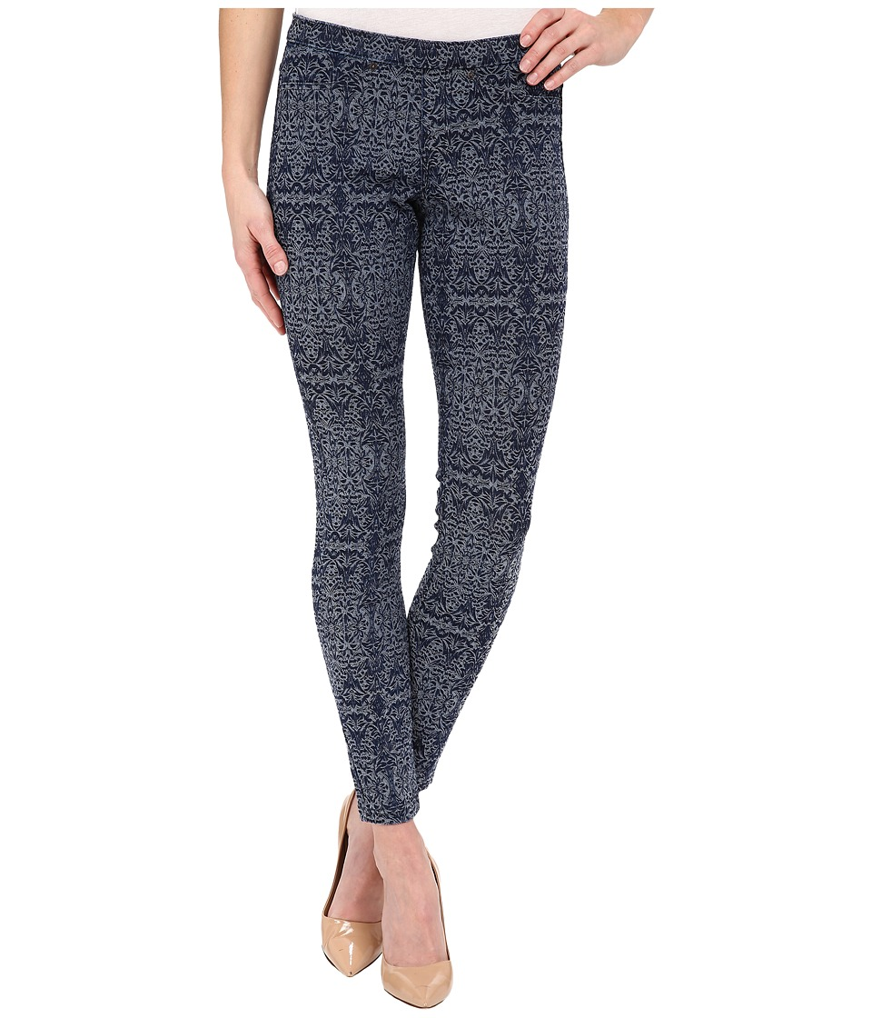 HUE - Arabesque Denim Jacquard Leggings (Dark Denim) Women's Jeans