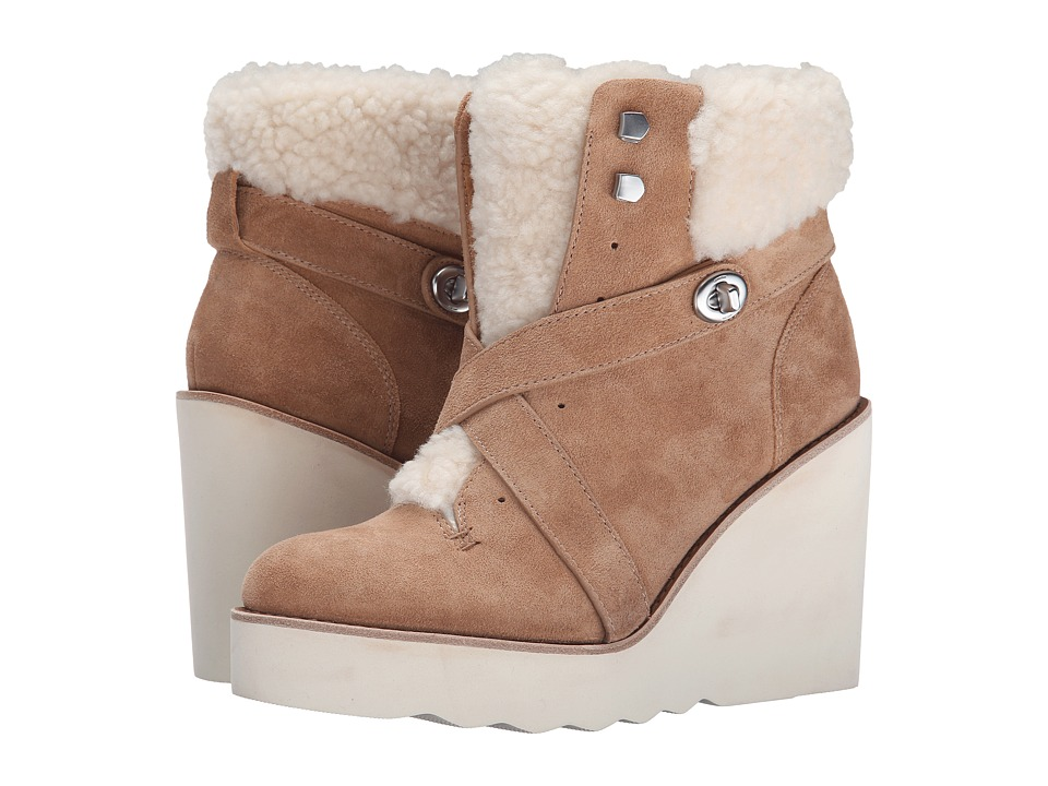 COACH Kenna (Camel/Natural Shearling) Women
