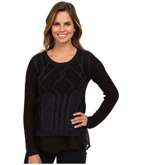 Brigitte Bailey - Courteous Textured Knit Sweater (Navy Sea) Women