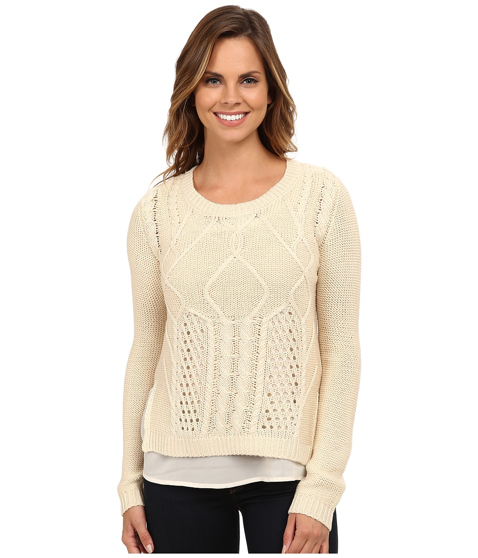 Brigitte Bailey - Courteous Textured Knit Sweater (Pebble Beach) Women's Sweater