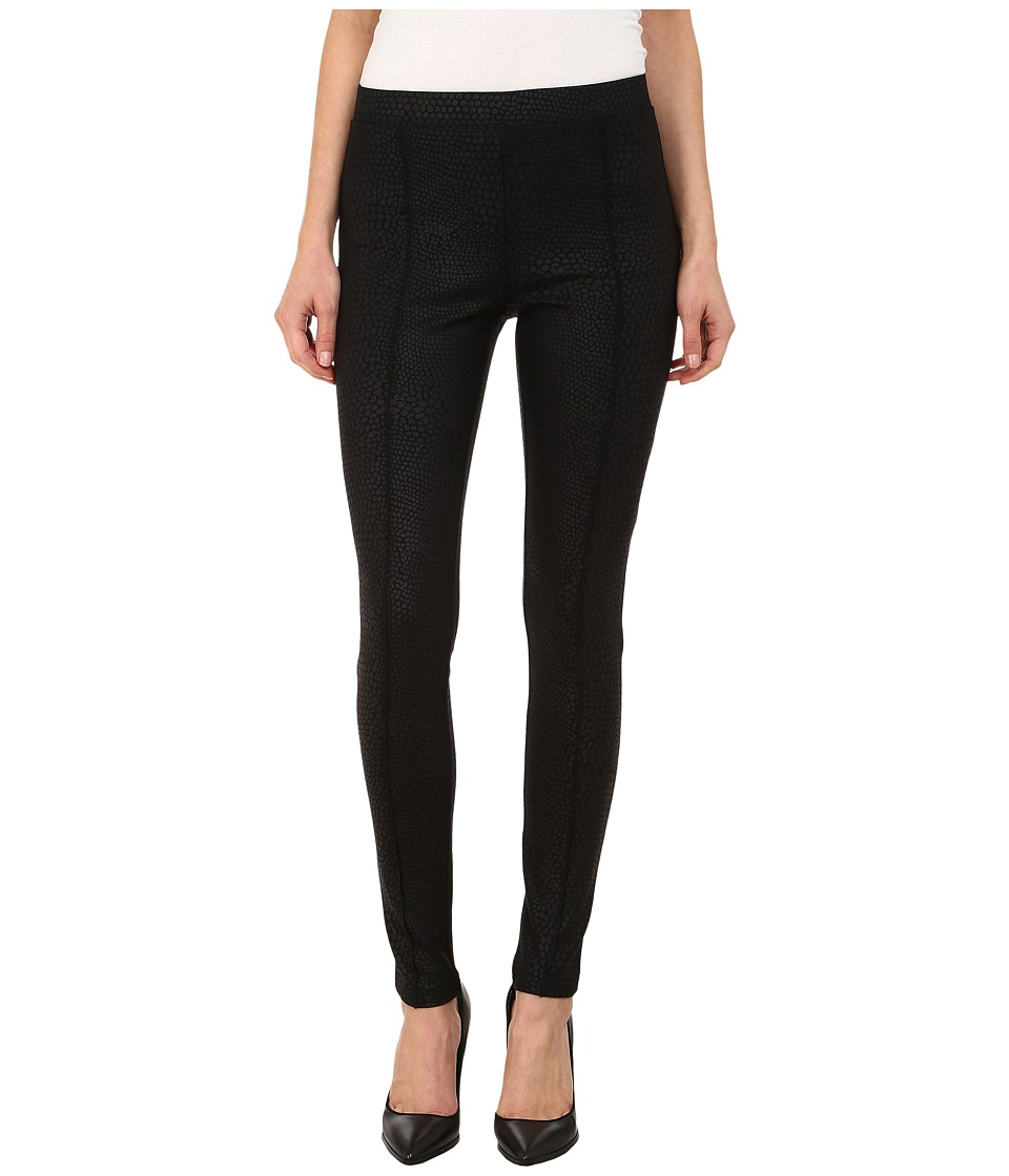 HUE - Python Sleek Ponte Leggings (Black) Women's Casual Pants