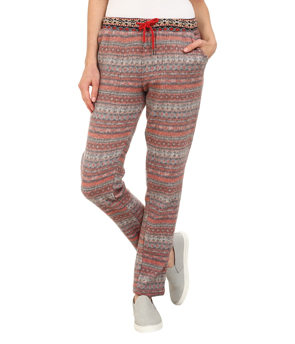 HUE - Fairisle Brushed Fleece Relaxed Leggings (Cranapple) Women's Casual Pants