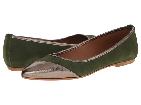 Summit White Mountain - Kylie (Green Suede) Women's Slip on Shoes