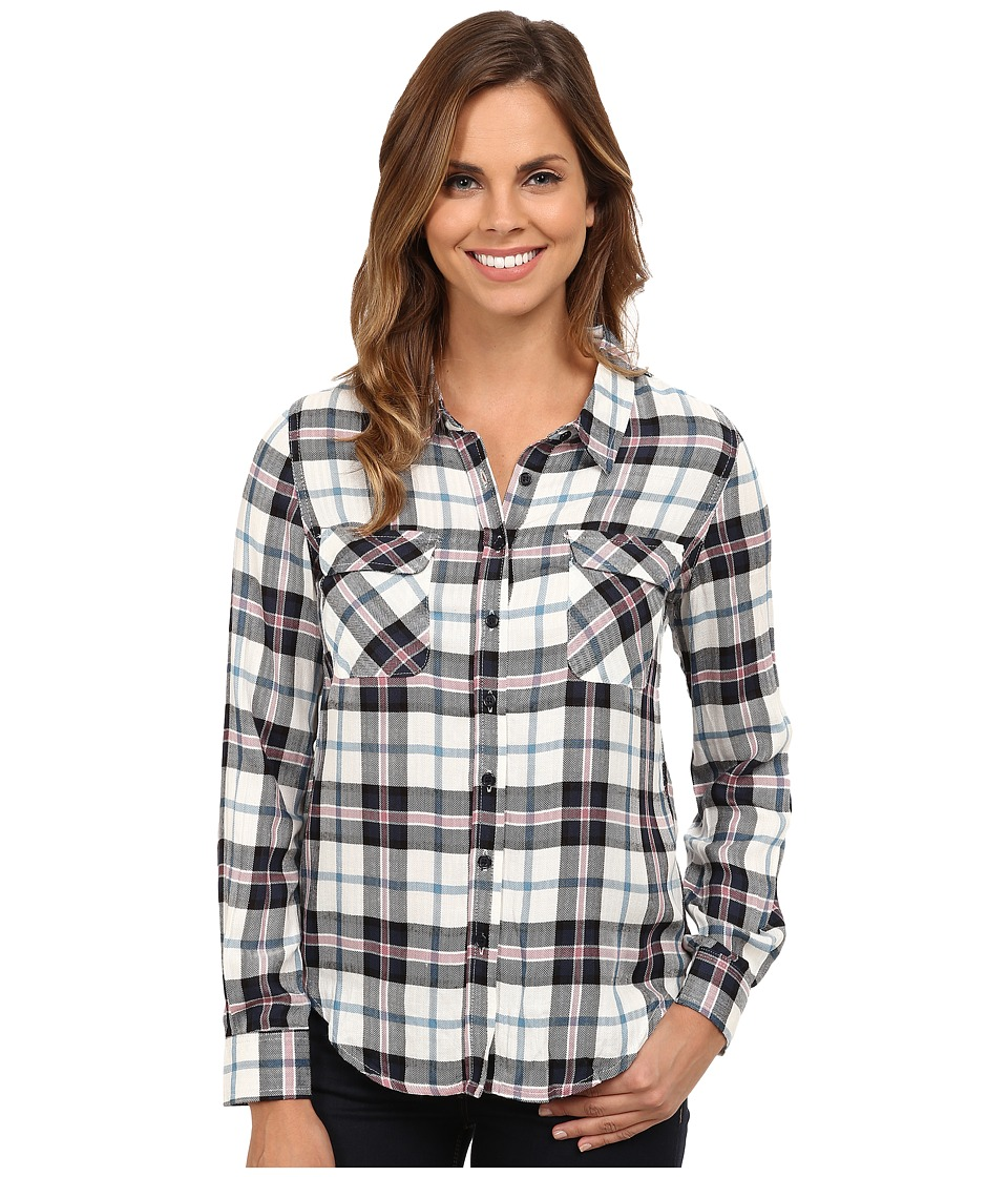 Gabriella Rocha - Brave Plaid Button Up (Navy Sea) Women's Clothing