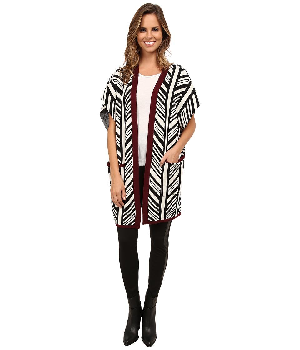 Gabriella Rocha - Convivial Stylized Stripe Cardi (Beige Combo) Women's Sweater