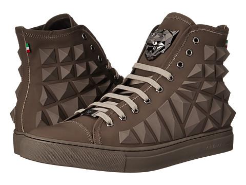 Philipp Plein - Geo High Top (Brown) Men's Shoes