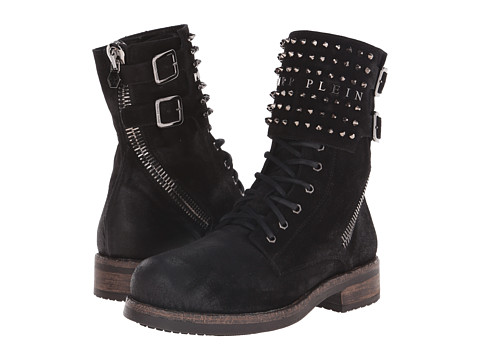 Philipp Plein - Studded Boot (Black) Men's Boots