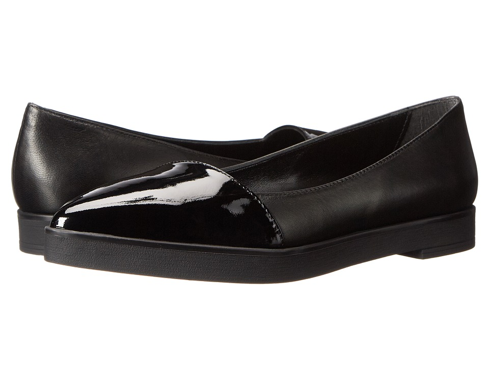 Summit by White Mountain - Ester (Black/Black Patent) Women's Slip on Shoes