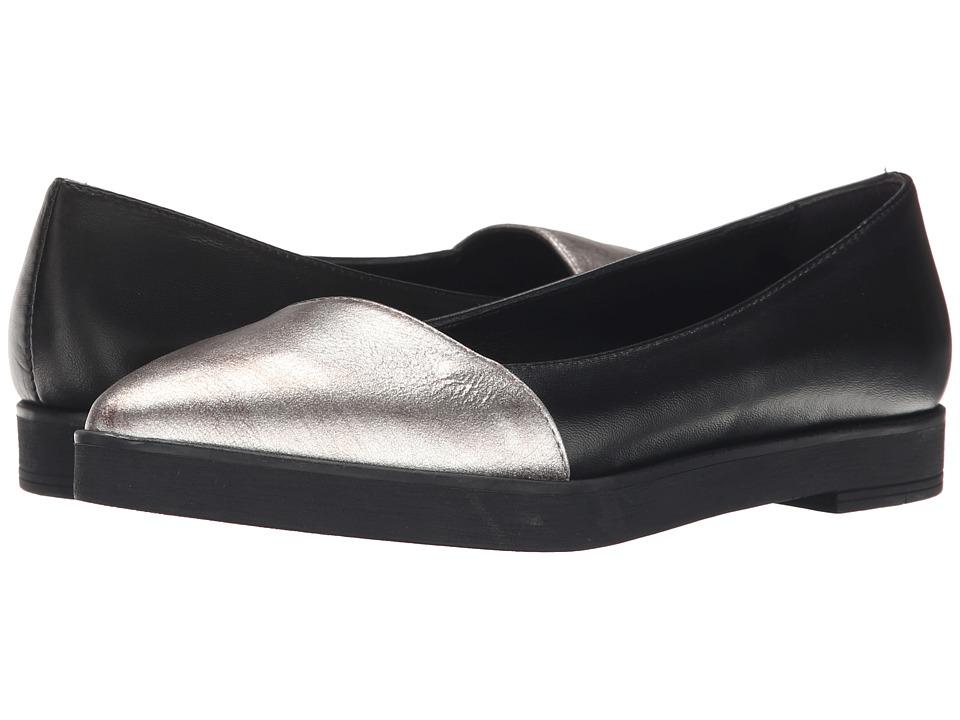 Summit White Mountain - Ester (Black/Platinum Metallic) Women's Slip on Shoes