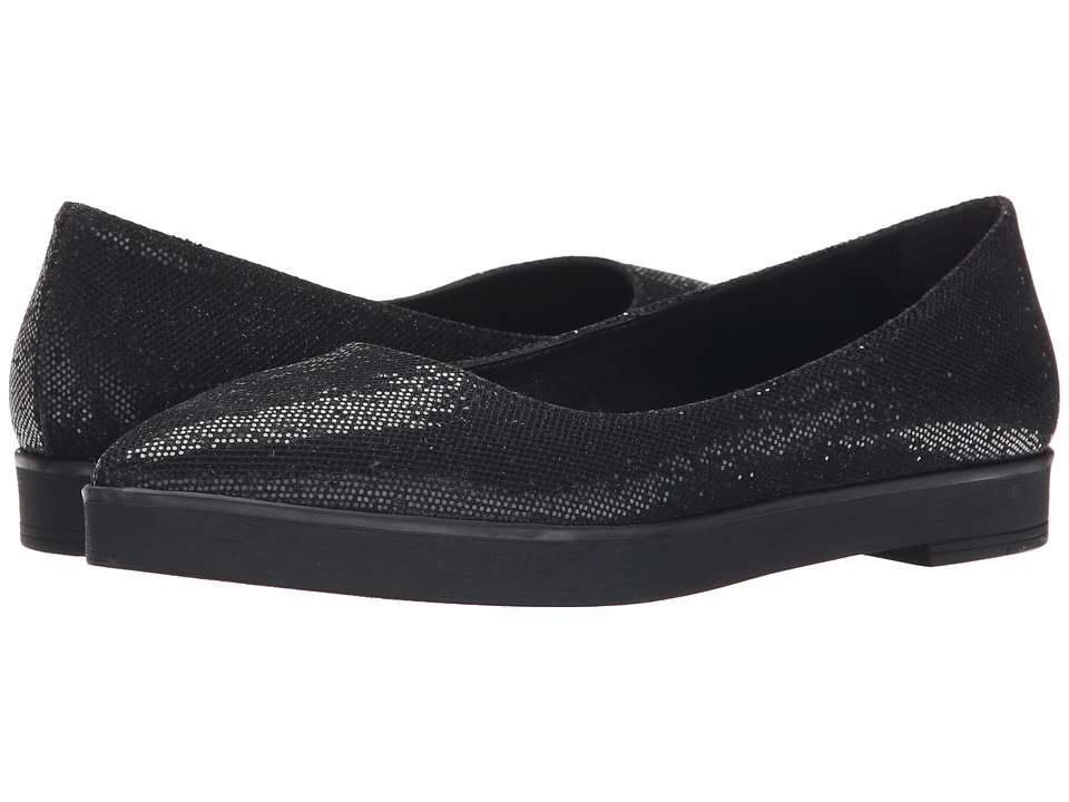 Summit White Mountain - Elise (Black Glitter) Women's Slip on Shoes
