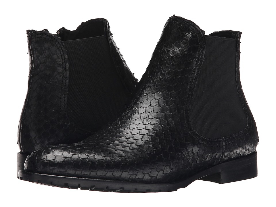 Summit White Mountain - Winnie (Black Exotic Leather) Women's Zip Boots