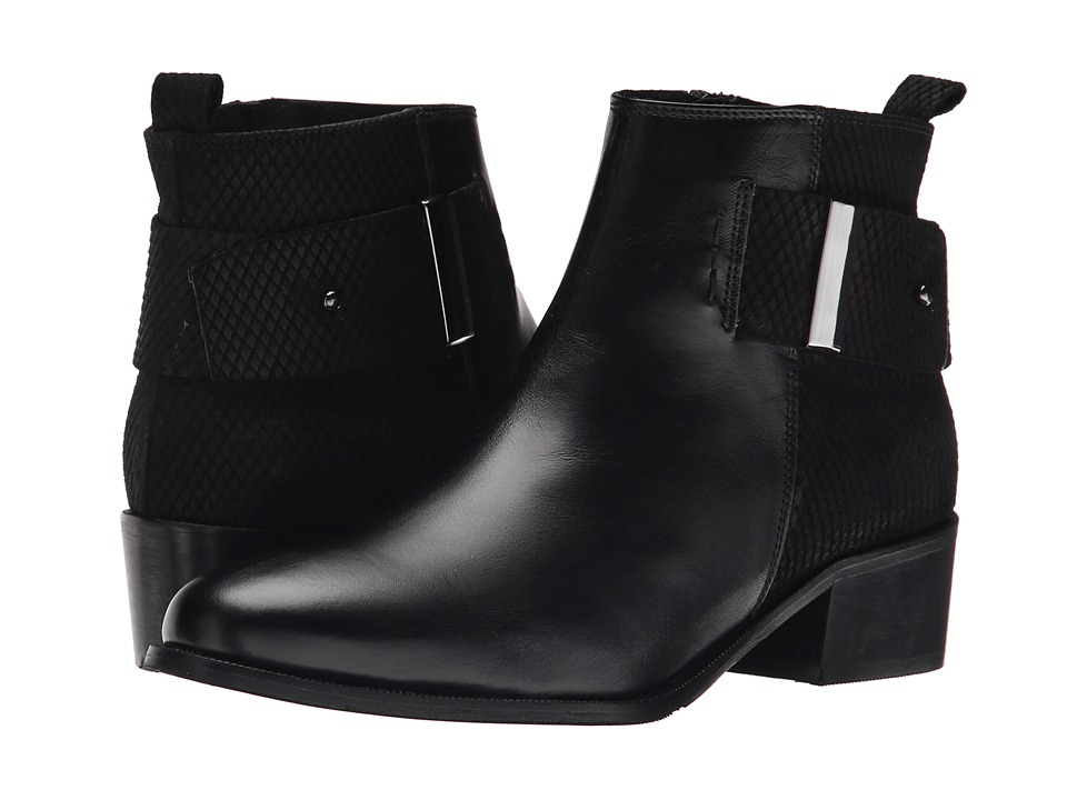 Summit White Mountain - Alessia (Black Leather) Women's Zip Boots