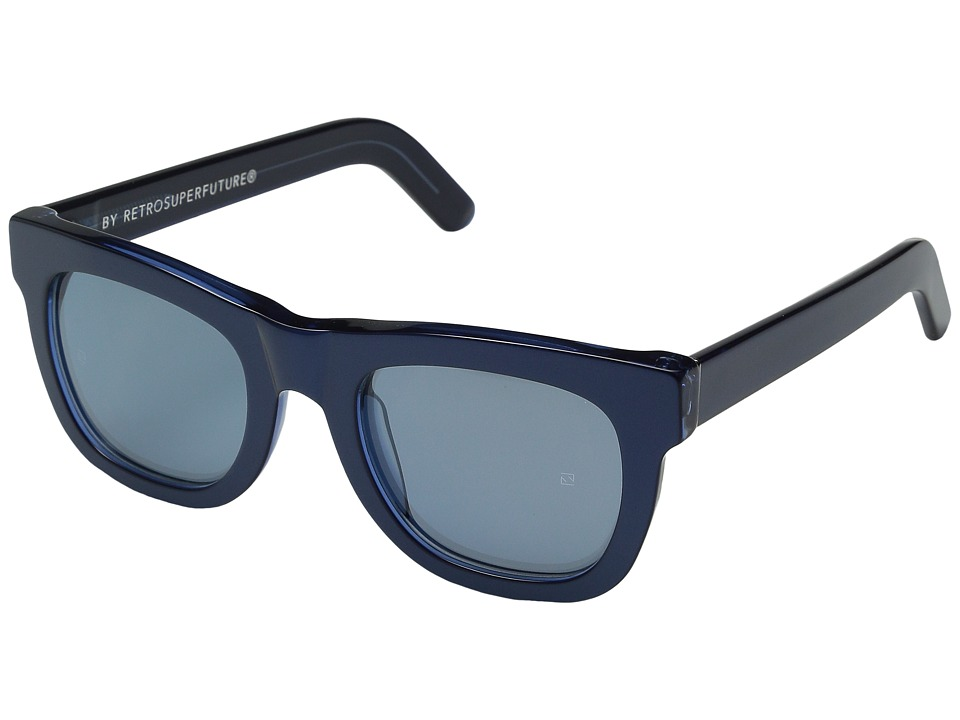 Super - Ciccio Metallic (Metallic Blue) Fashion Sunglasses