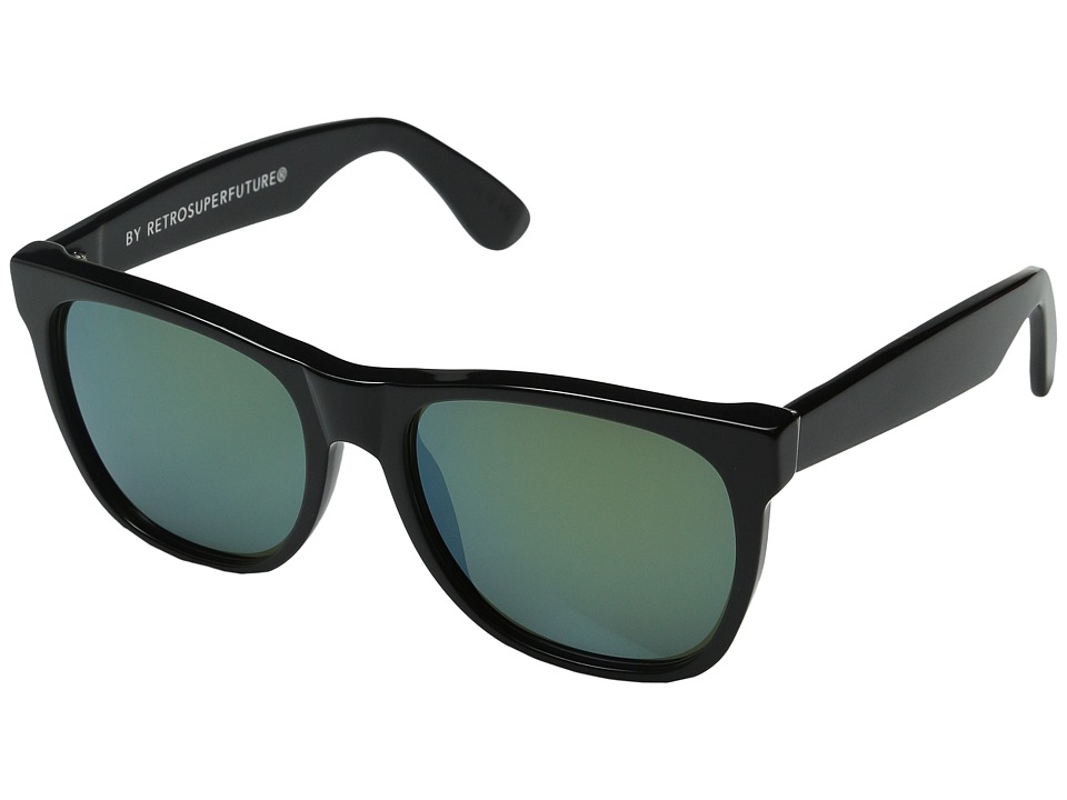 Super - Classic Patrol (Shiny Black/Bottle Green) Fashion Sunglasses