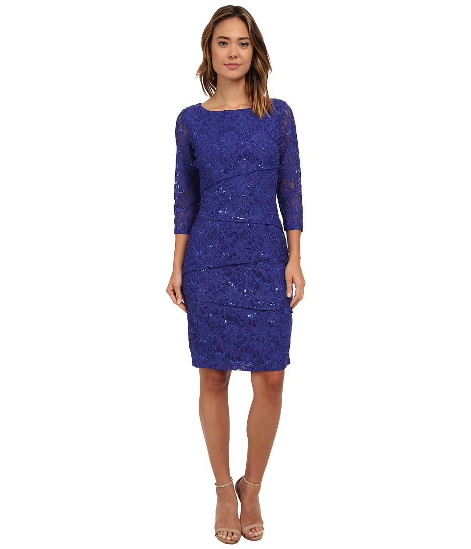 rsvp Bea Tiered Lace Dress (Purple) Women