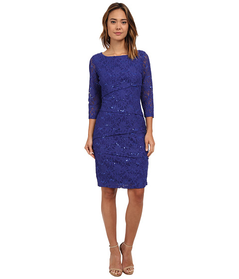 rsvp - Bea Tiered Lace Dress (Purple) Women