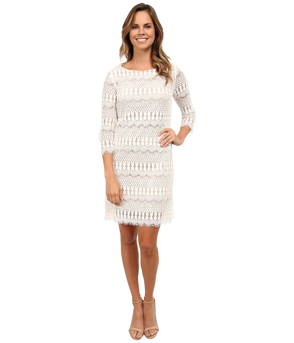 rsvp - Scalloped Lace Jennie Dress (Ivory/Nude) Women