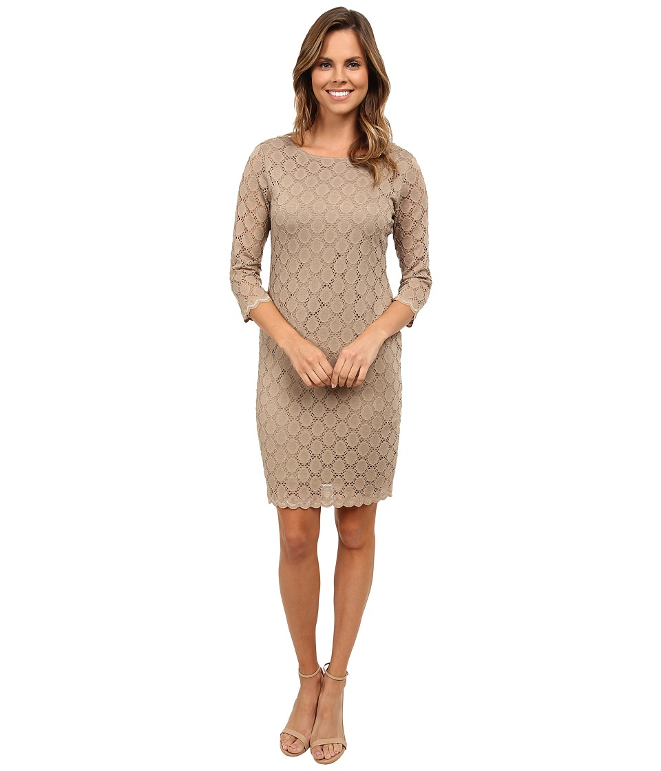 rsvp Alluring Lace Sheath Dress (Cafe) Women