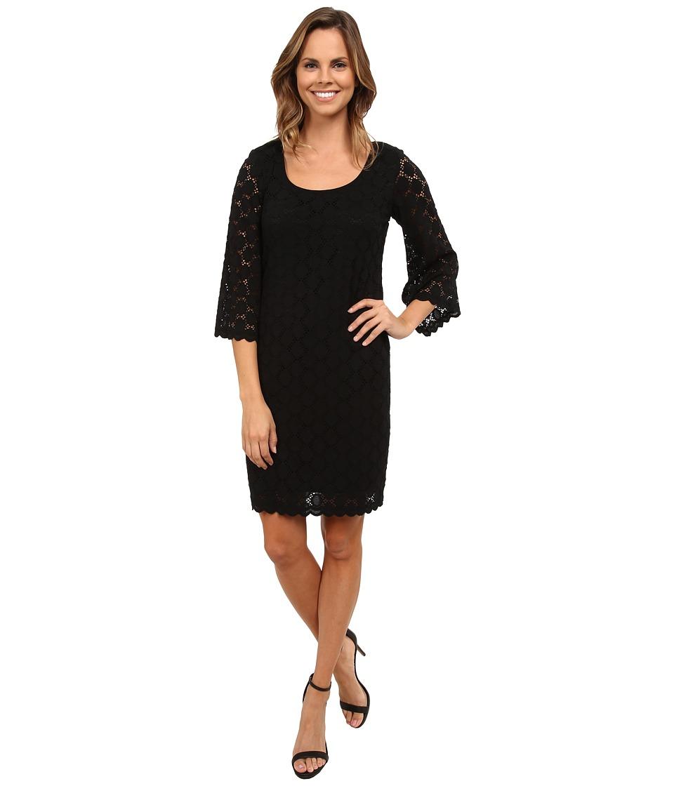 rsvp - Circle Lace Dress (Black/Black) Women's Dress