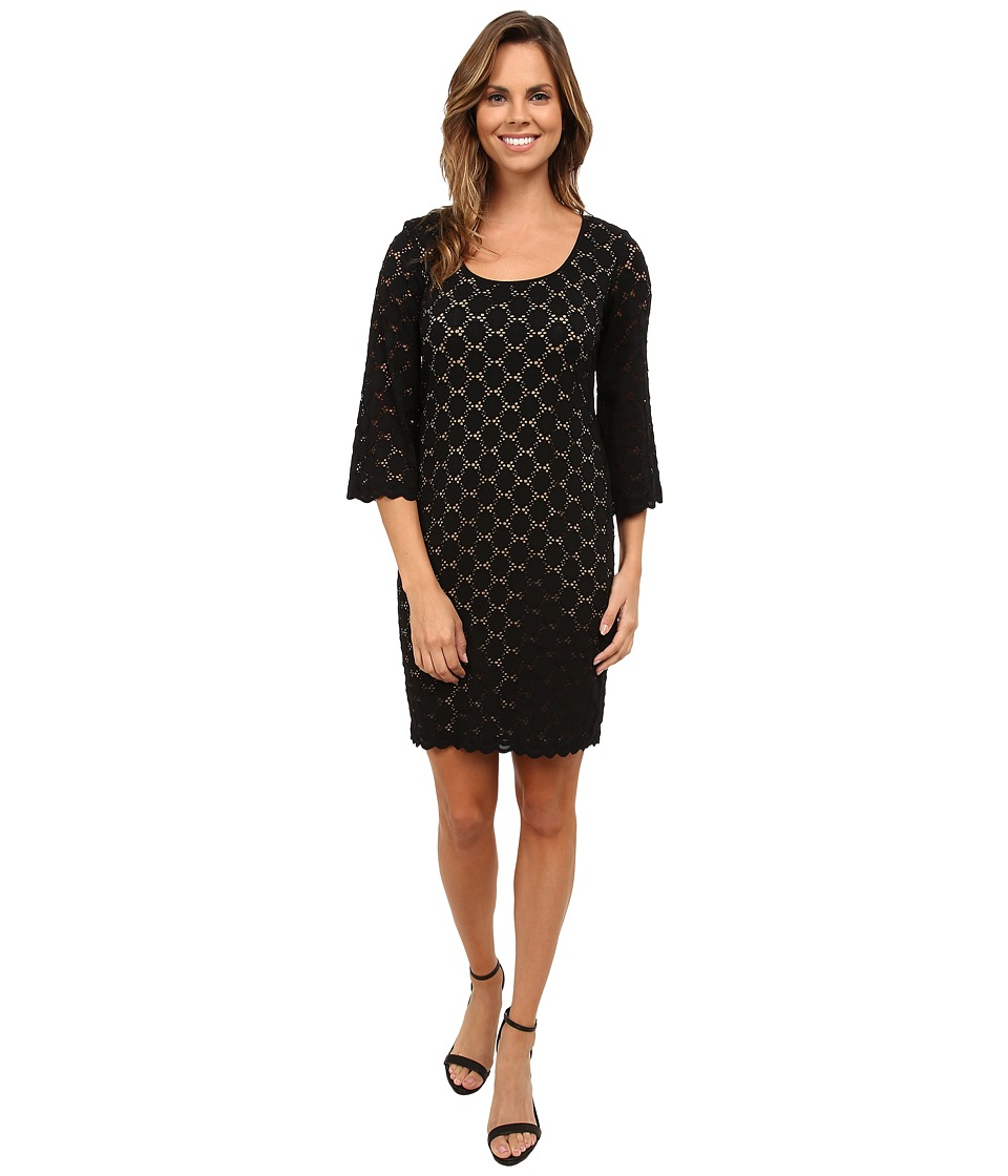 rsvp - Circle Lace Dress (Black/Nude) Women's Dress