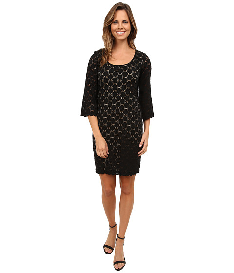 rsvp - Circle Lace Dress (Black/Nude) Women