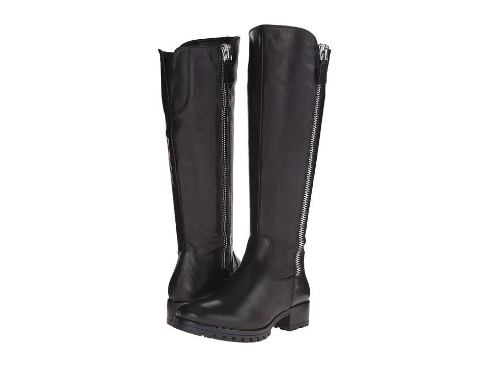 Summit White Mountain - Becky (Black Leather) Women's Zip Boots
