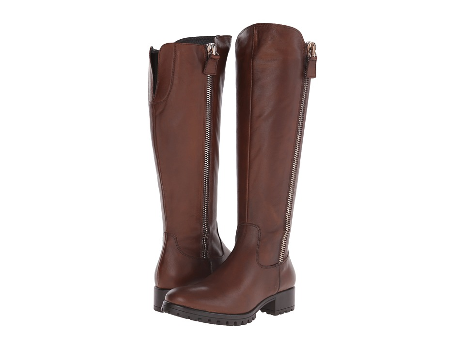 Summit White Mountain - Becky (Brown Leather) Women's Zip Boots