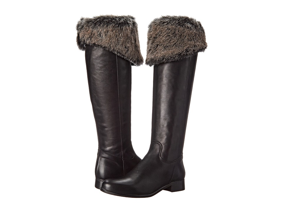 Summit White Mountain - Ricci (Black Leather/Fur) Women's Boots