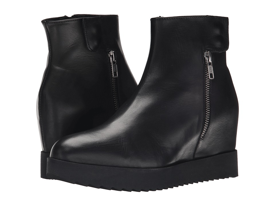 Summit White Mountain - Belia (Black Leather) Women's Zip Boots