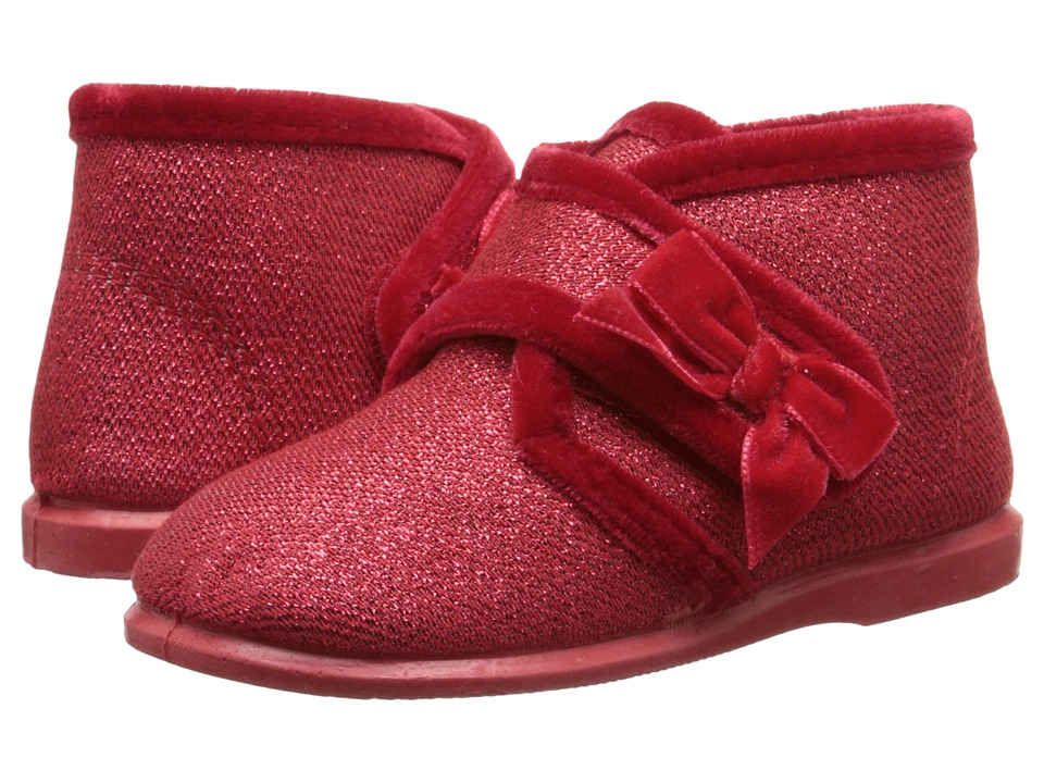 Cienta Kids Shoes - 10801 (Infant/Toddler/Little Kid) (Red Glitter) Girl's Shoes