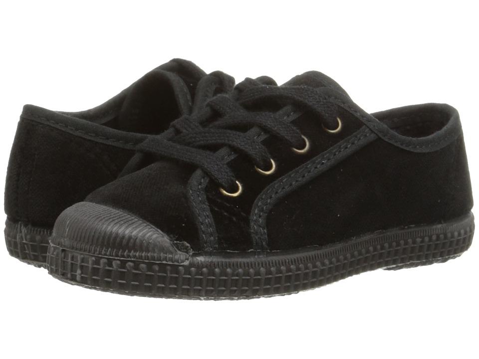 Cienta Kids Shoes - 97407 (Toddler/Little Kid/Big Kid) (Black Velvet) Girl's Shoes
