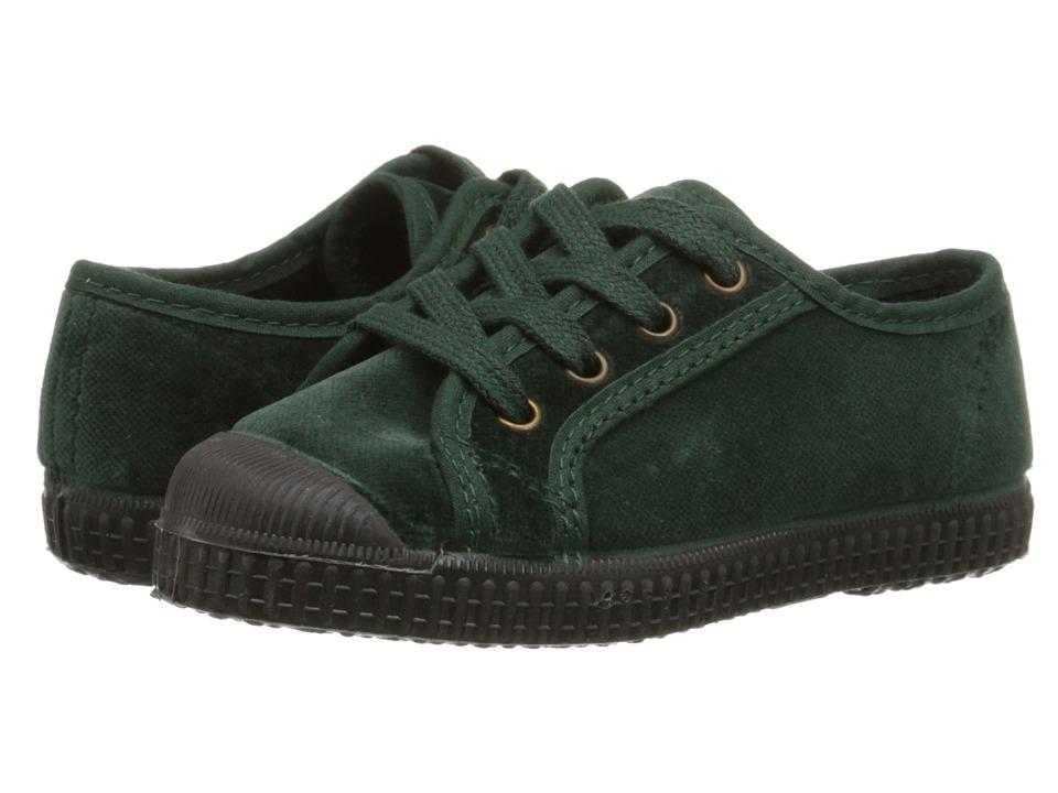 Cienta Kids Shoes - 97407 (Toddler/Little Kid/Big Kid) (Emerald Velvet) Girl's Shoes