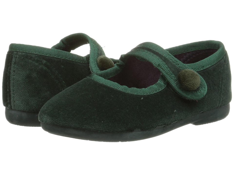 Cienta Kids Shoes - 500-075 (Toddler/Little Kid/Big Kid) (Emerald Velvet) Girls Shoes