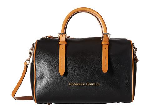 Dooney & Bourke - Claremont Olivia Satchel (Black/Butterscotch Trim) Satchel Handbags