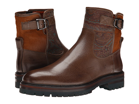 Etro - Ankle Boot (Brown Multi) Men's Boots