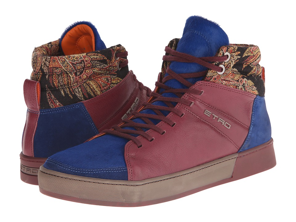 Etro - Ankle Sneaker (Blue Multi) Men