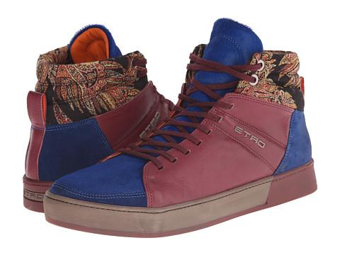 Etro - Ankle Sneaker (Blue Multi) Men's Shoes