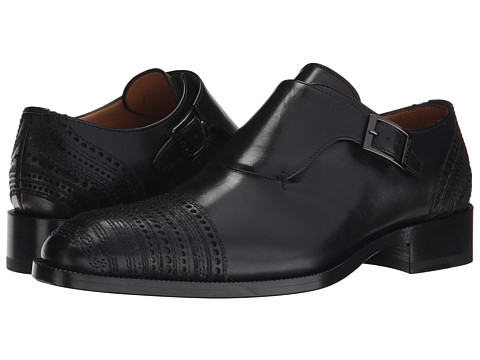Etro - Monk Strap (Black) Men's Shoes