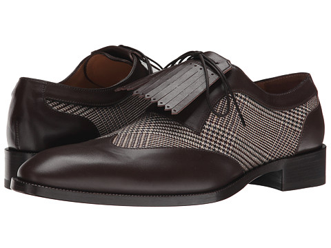 Etro - Wingtip Oxford with Kiltie (Brown Multi) Men